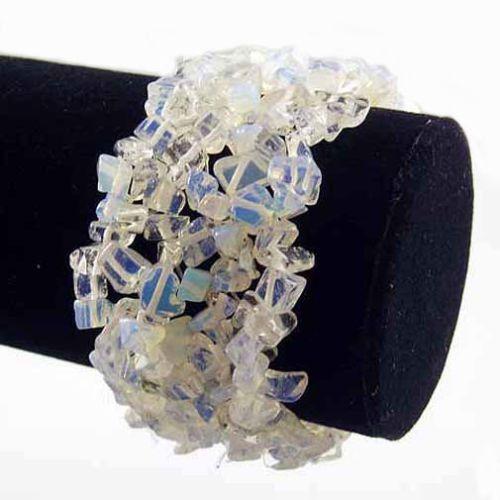 Opalite Wide Style Chipped Gemstone Bracelet