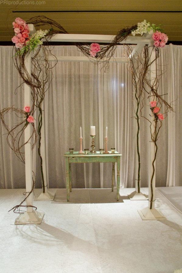 Diy Indoor Wedding Decorations : Simple wedding alter indoor altar ideas