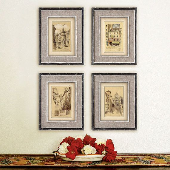 Set of 4 stylish prints of old Paris for price by RoyalArtPrints