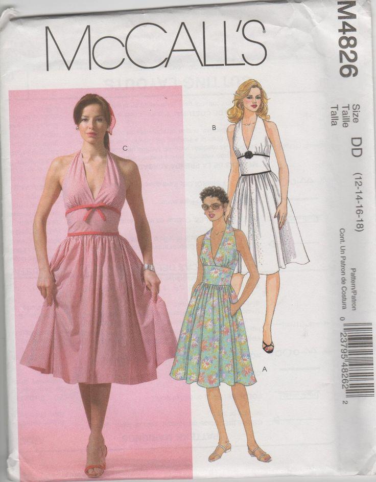 Retro 50's Marilyn Monroe Style Dress Pattern sz 12 14 16 ...
