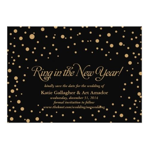 Formal Wedding Save the Date New Years Eve Save the Date Announcement