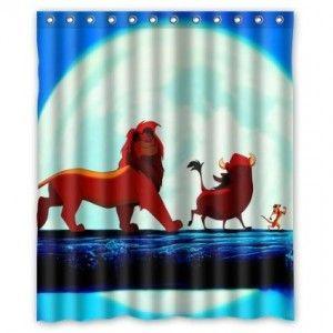 Cartoon The Lion King Shower Curtain Bathroom Decor