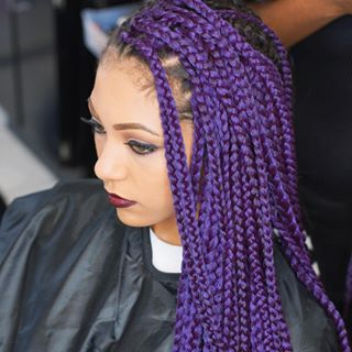 Purple Crochet Box Braids : Crochet Synthetic Hair Braids X-Pression Ombre Purple 3X box braids ...