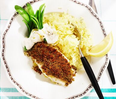 Frasig torsk med citronyoghurt (billiga veckan)