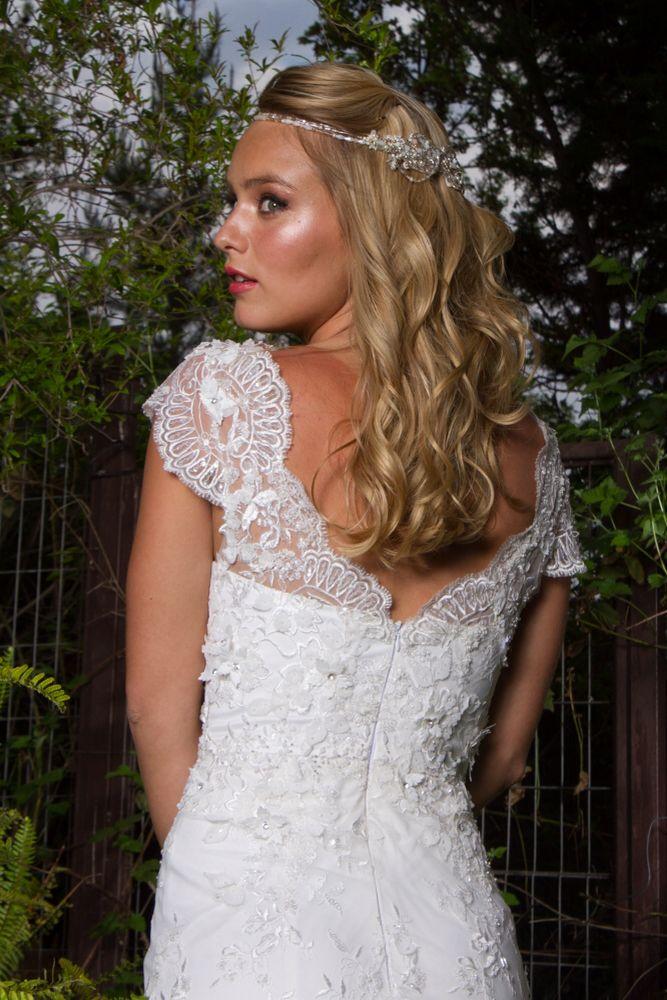 Espalda vestido novia vintage #SusanAnaniasNovias