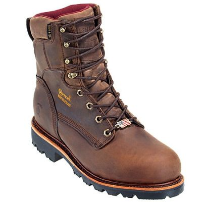 Chippewa Boots Men's Waterproof 29416 Brown Insulated Work Boots