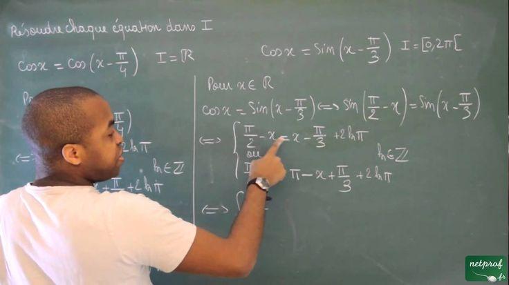 120 / Angles orientés - Trigonométrie / Résoudre des équations trigonomé...