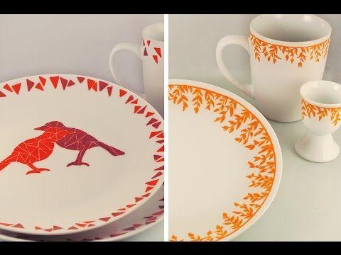Hallo diesmal zeige ich euch wie ihr Porzellan bemalen könnt. Hello this time I will show you how I do paint my porcelain.