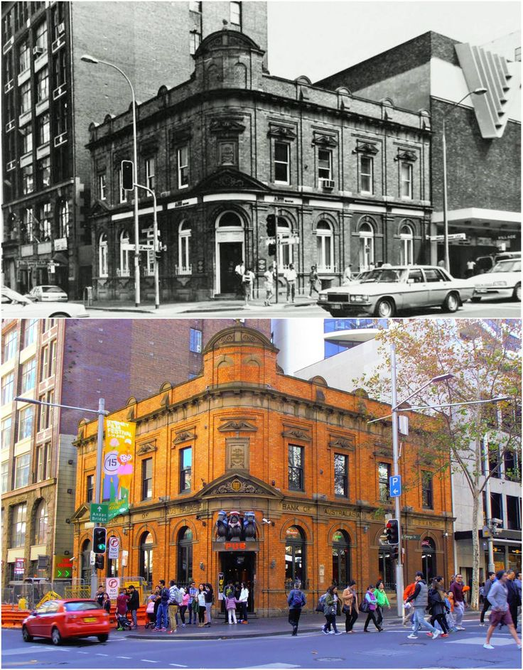 ANZ Bank on the corner of  George and Liverpool Sts c1989 > 2015. [City of Sydney Archives > Kevin Sundgren. By Kevin Sundgren]