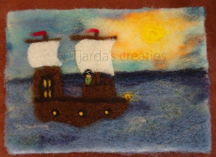 Naaldvilt schilderij piratenschip
