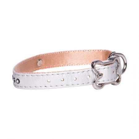 Rogz Lapz Luna Dog collar Ivory - Medium