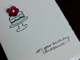 Flower on a Cake birthday card ideas