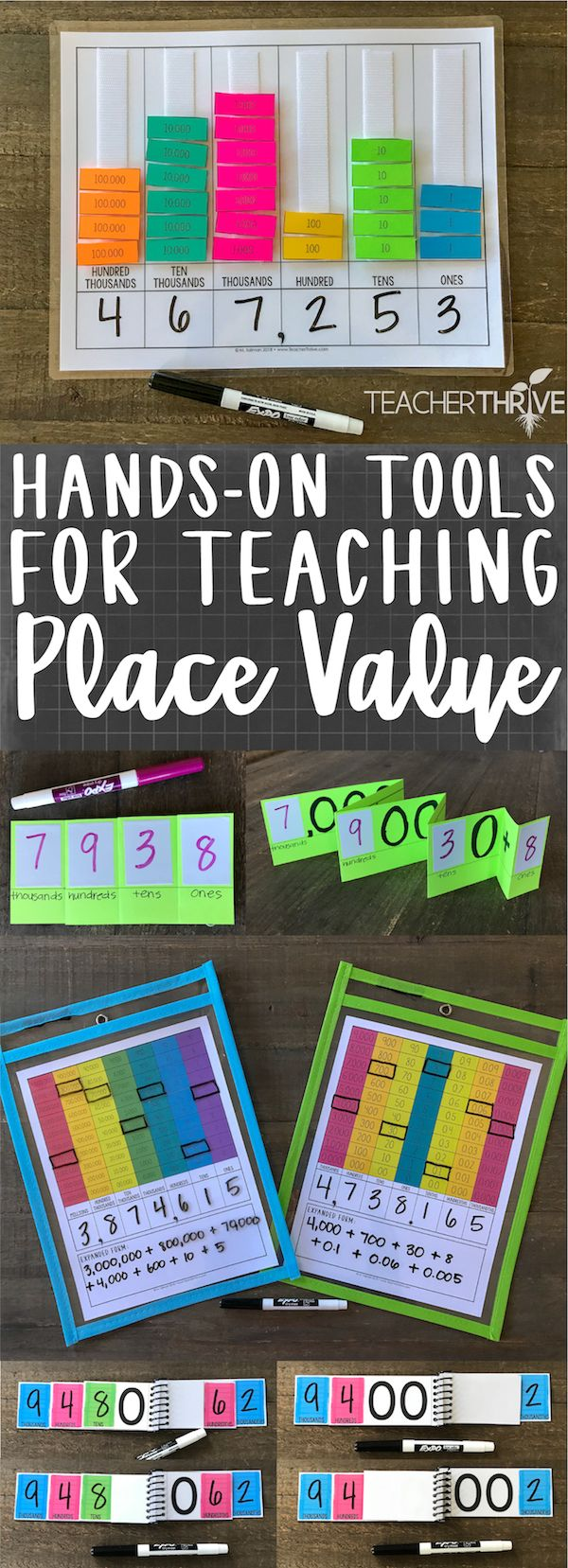 Hands-on activities for teaching place value via @gottoteach #mathlessons