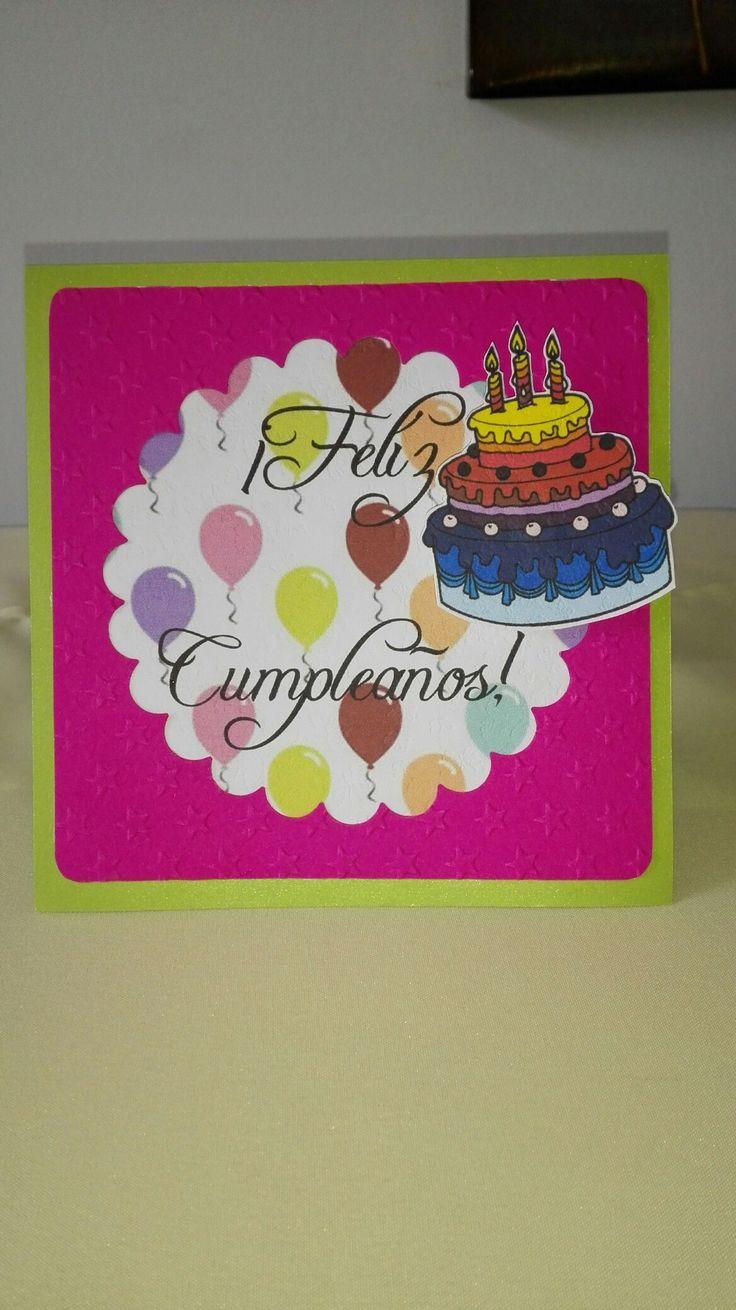 Tarjeta cumpleaños para mujer!