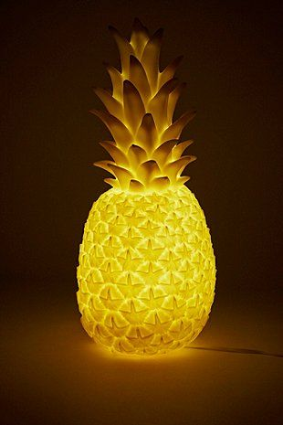 Goodnight Light Pineapple Lamp EU Plug in Yellow - Urban Outfitters
