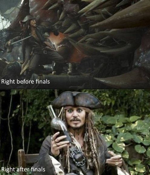 MEME - Before and after finals - www.funny-pictures-blog.com