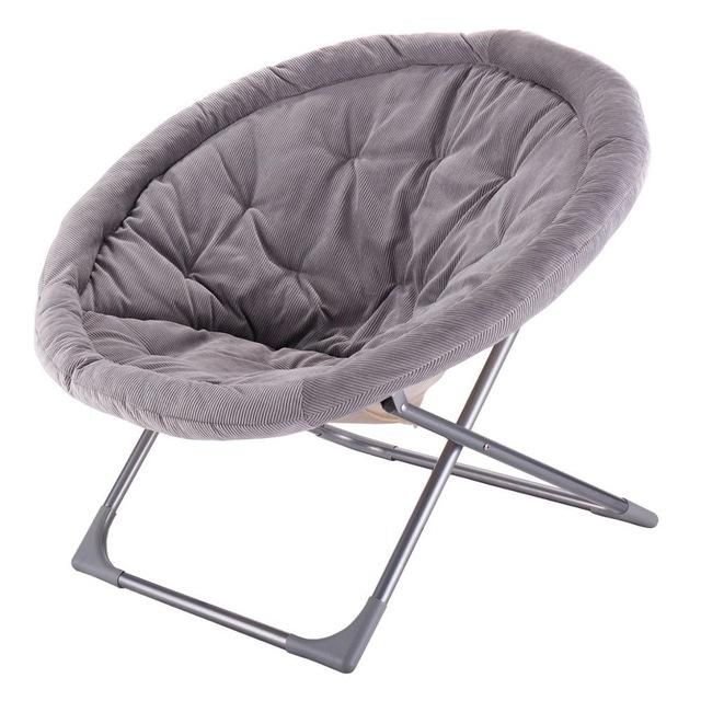 Goplus Oversized Large Folding Saucer Moon Chair Corduroy