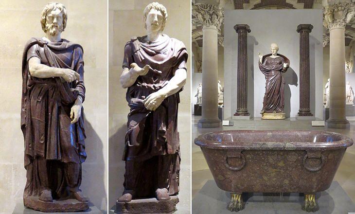 Statues at the Louvre Museum (Daci in porfido collezione Borghese)