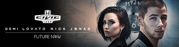 Get your tickets for Demi Lovato and Nick Jonas at the #HondaCivicTour!