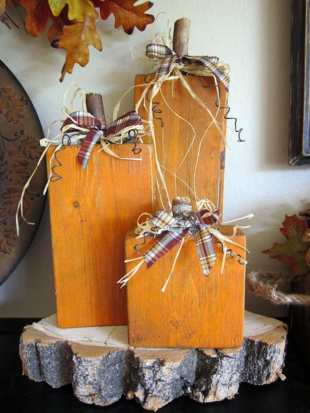 Simple Square Pumpkin Display : Decorating : Home & Garden Television