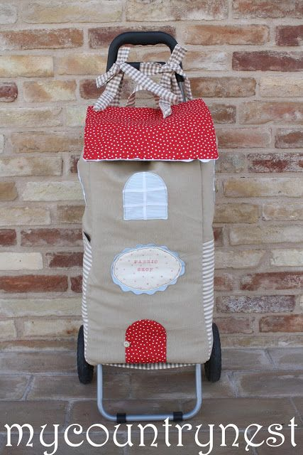Have to make a new carrier for my IKEA 'trolley'. This is too darling!
