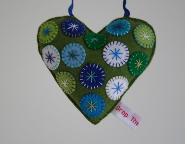 Felt heart decorations