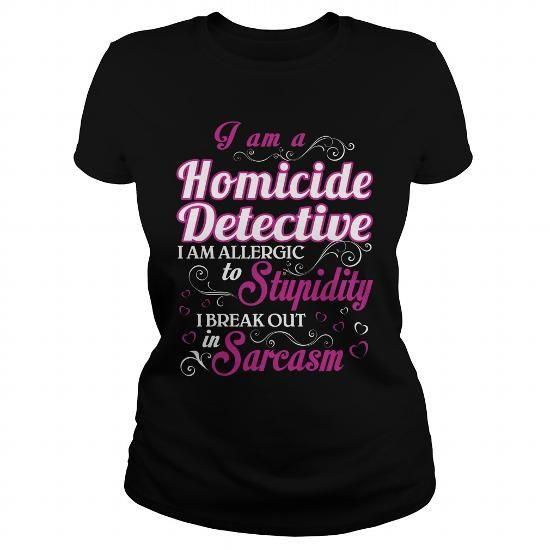 Homicide Detective-WOMEN #casual shirt #pullover sweater. GUARANTEE => https://www.sunfrog.com/LifeStyle/Homicide-Detective-WOMEN-Black-Ladies.html?60505