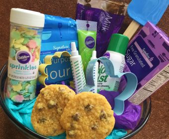 Easter Basket Ideas for Teens | Easter Baskets for Girls | DIY Easter Baskets | Bake up some fun with this easy Easter basket that contains ingredients to whip up the perfect ...