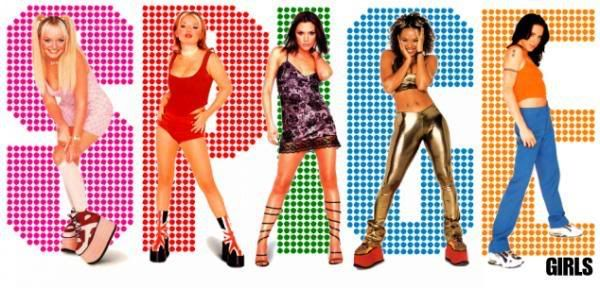 I had all the stickers, lollipops, t-shirts, movies, music, etc; I was OBSESSED w/ the Spice Girls!
