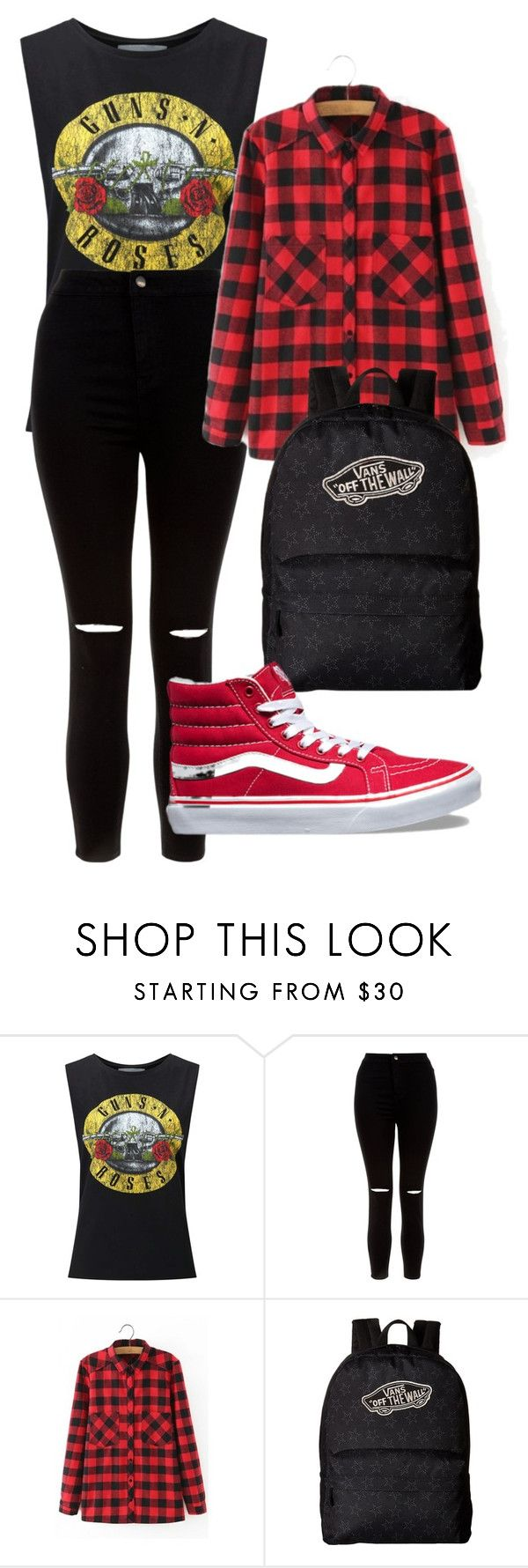 """""""red high top vans"""" by thegirl-and-hercamera on Polyvore featuring Miss Selfridge, New Look, WithChic and Vans"""