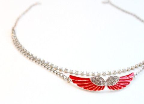 LiLy Bay — Red angel wings necklace