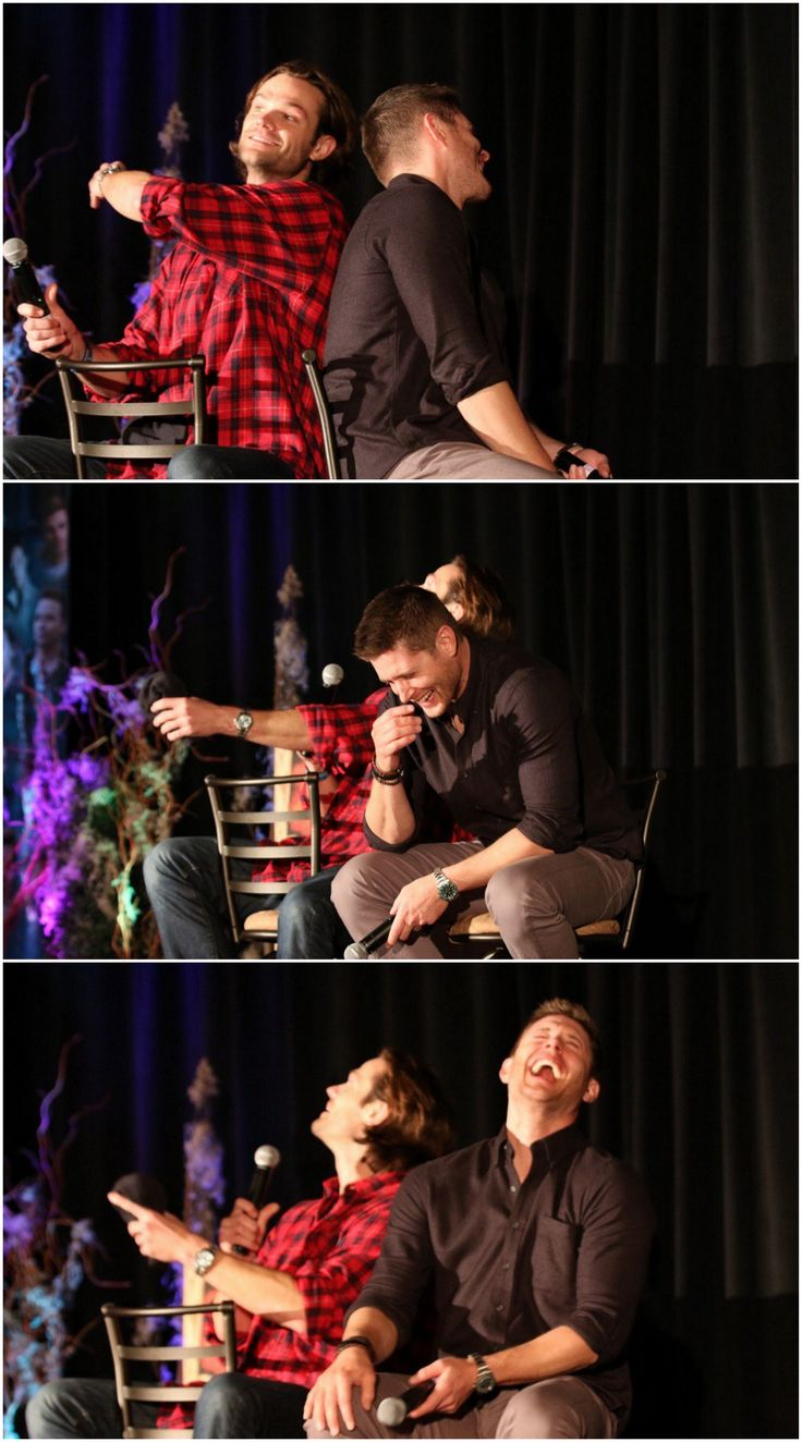 Jared and Jensen - HousCon2016. I love this so, so much!