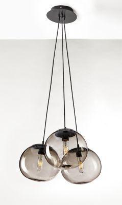Room Board Modern Humboldt Globe Chandelier Set Of Three In Gl Smoke