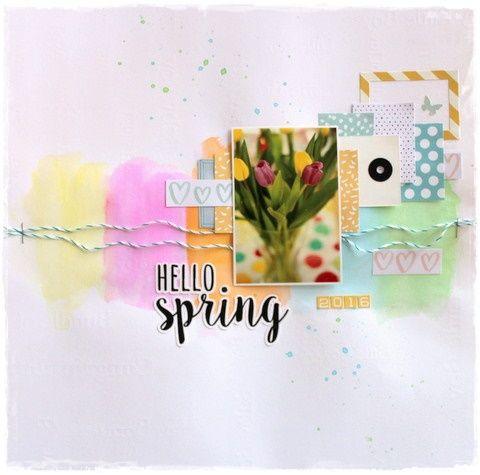 Hello spring...watercolour background