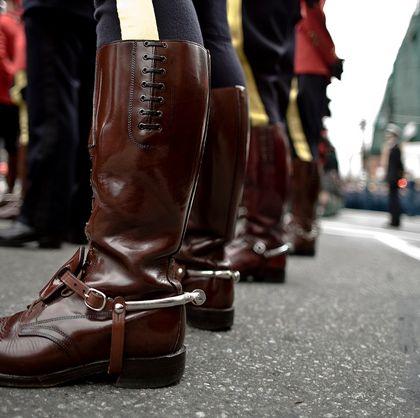 RCMP dress boots.