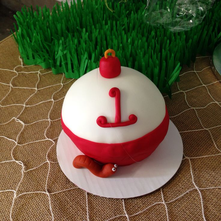 Bobber cake for a fishing party