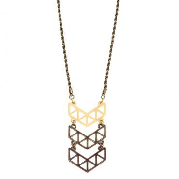 Chevron Necklace in Mixed Metals | Foxy Originals.  Available at Tranquility.