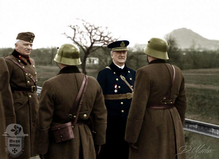 Horthy Miklós látogatása a Kárpátaljai csapatoknál.