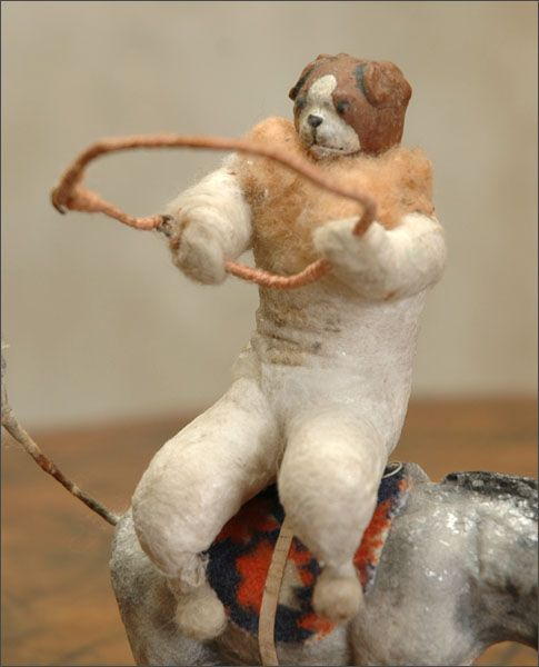 Antique Christmas ornament DOG-CLOWN - This is CREEPY!