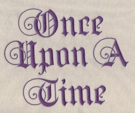 Once Upon A Time Calligraphy Once Upon A Time Machi...
