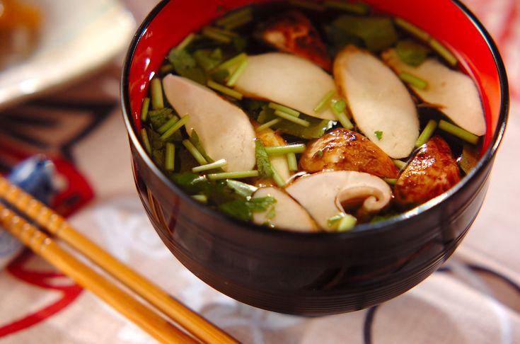 松茸のお吸い物のレシピ・作り方 - 簡単プロの料理レシピ   E・レシピ