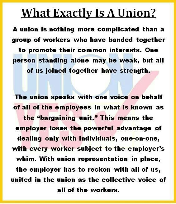 Unions were born out of necessity... due to the greed and deplorable working conditions by the company owners - ( or the good ole days as Republicans refer to them )