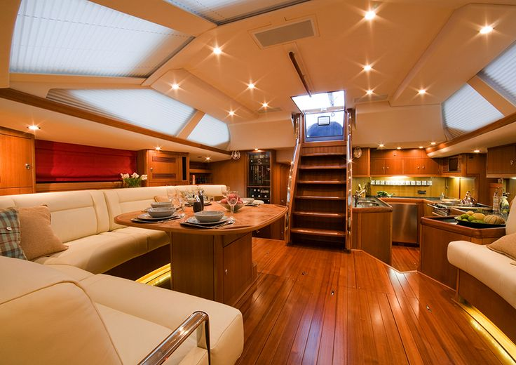 #Luxury #Living in a beautiful #yacht. Soft pleated shading from Oceanair