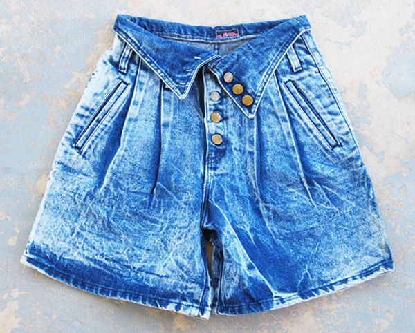 Fold Over Jean Shorts So 80s So Totally Awesome Http
