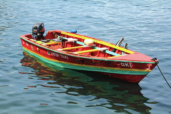 Colorful Water Taxi in Soufriere St Lucia | View Vacation Packages to St. Lucia!