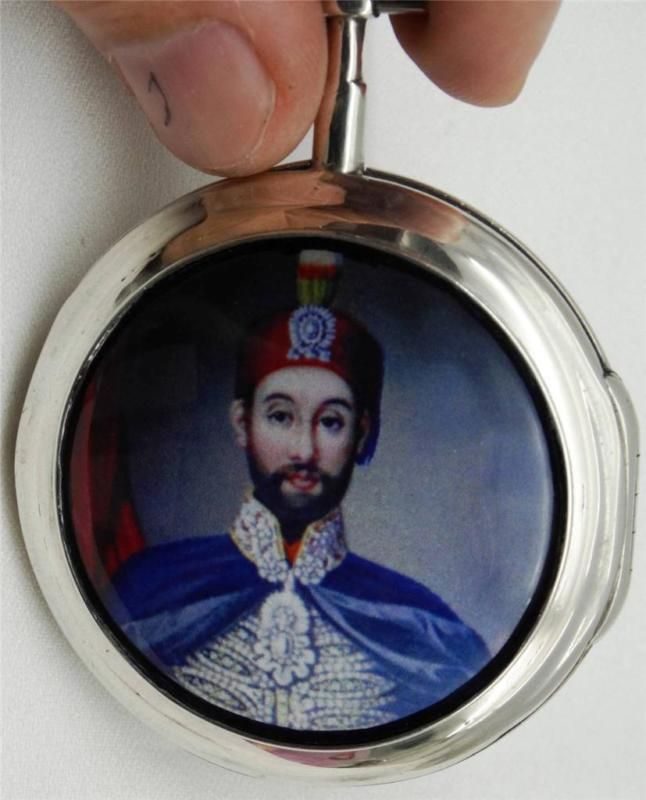 Museum Verge Fusee silver&enamel Ottoman  watch by Bourquin.Sultan Abdulmecid I