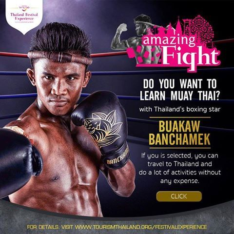 Tourism Authority of Thailand once again give away freebies and this time the awards are very tempting. The activity is called 'Amazing Thai Flight ' You will be able to travel to Thailand for free and join a lot of cultural activities, plus learning Muay Thai with Buakaw Banchamek, Thailand's famous boxer. For details, visit www.tourismthailand.org/festivalexperience