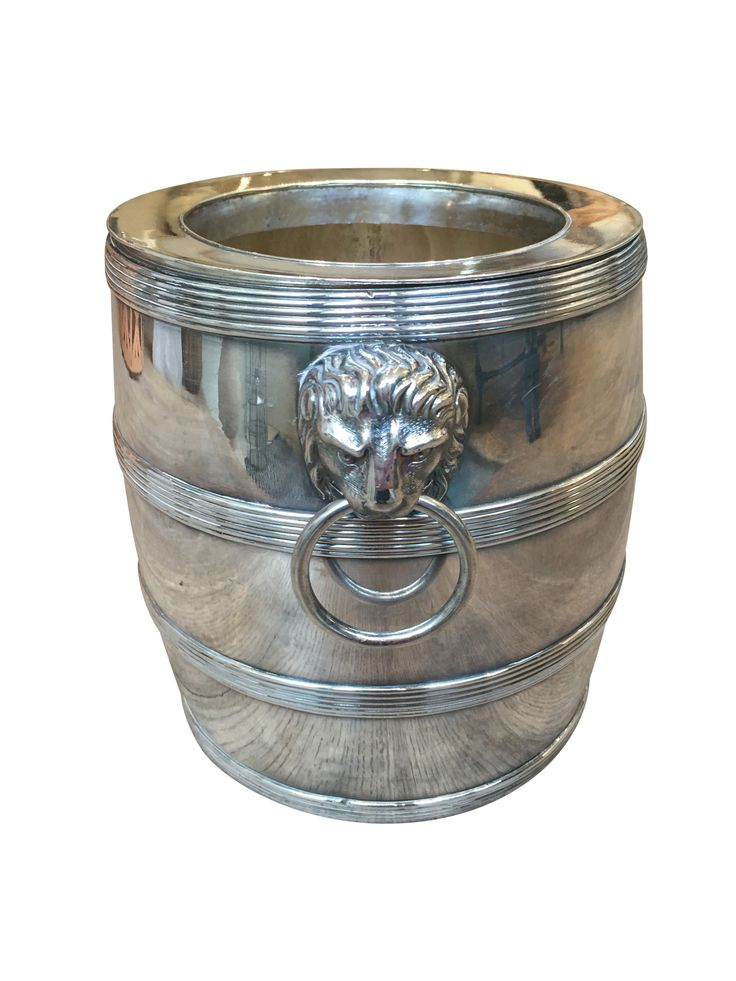 Buy Lion Head Ice Bucket by Anyon Design - Quick Ship designer Accessories from Dering Hall's collection of Traditional Transitional Decorative Objects.