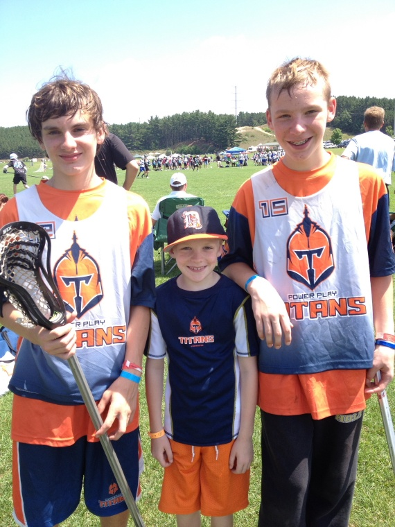 The Brickey boys at the Cherry Bomb Lacrosse Tournament...