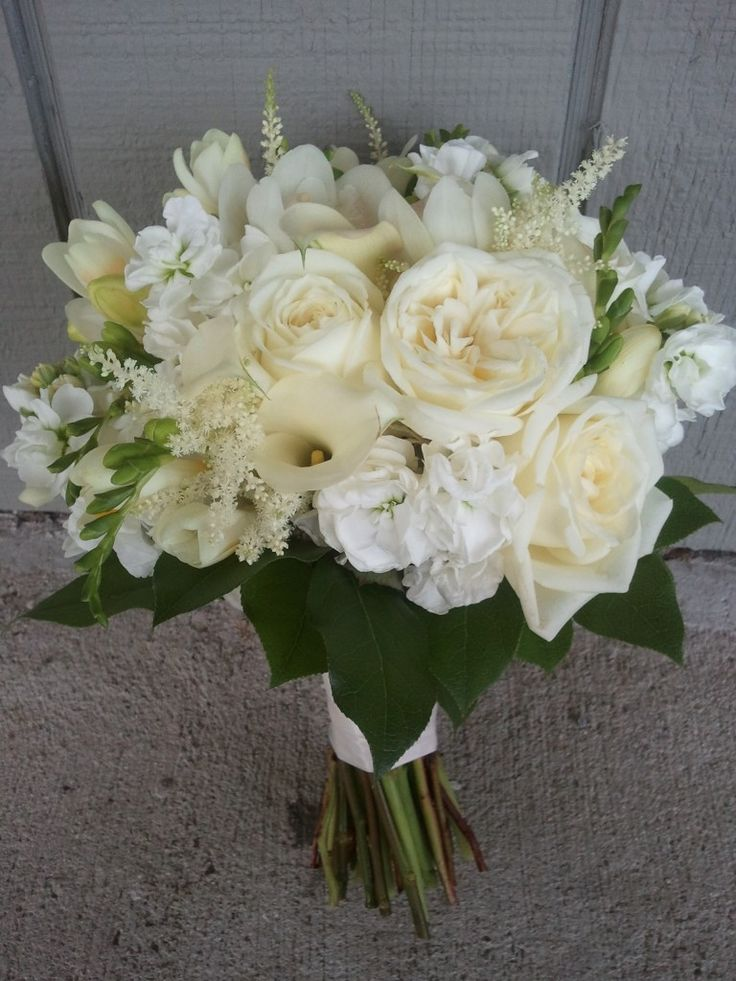 Bouquet With Hydrangea Roses Lisianthus Astilbe Find This Pin And More On Wedding Flowers